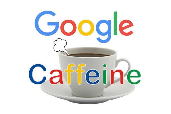 Historia del SEO Caffeine