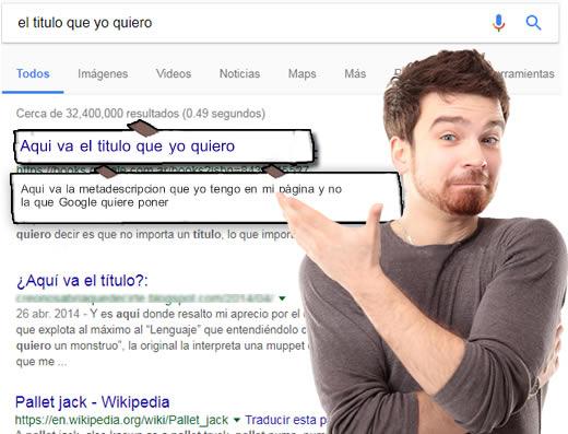 google cambia los títulos de mis páginas