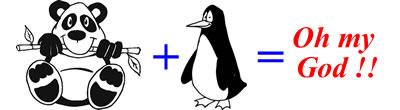 panda y penguin, oh my god!!