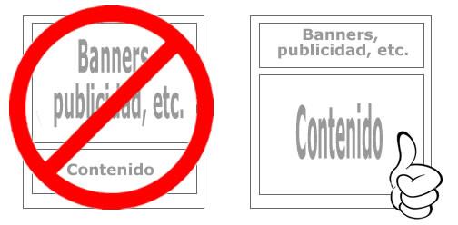 ¿Sabias que Google penaliza a páginas web con exceso de publicidad?